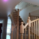 Loft conversions wooden staircase