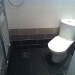 Toilet Installation and Tile Flooring
